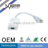 SIPU high quality hdmi to vga cable with audio china factory price hdmi2vga converter cable hdmi to vga with aux for network box