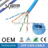 SIPU Factory Price 23AWG 305M Bulk UTP Cat6 Network Cable With Pullbox PVC Jacket utp cat6 cable price For The World Cheapest Pr