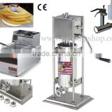 (3 in 1) Commercial Use Manual Spanish 5L Churro Maker + 110v 220v Electric 6L Deep Fryer + 1L Churros Filling Machine