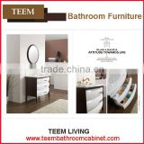 Teem home bathroom furniture Melamined nice newly design bathroom cabinet prefab bathroom vanity top