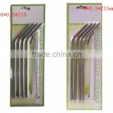 Cleaning Brush Straws Set Retail Packing 4+1 Kit Fits 304 Stainless Steel Straw Metal Drinking Straw