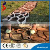 Durable Plastic PP Garden Walkway Park Concrete Pavement mold DIY Mould