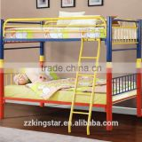 Wholesale school children iron metal bunk bed for dormitory,high quality unique steel metal bunk bed kids