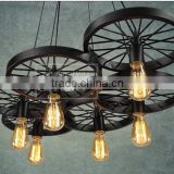 SCANDINAVIALAMP Vintage Edison Style Industrial Retro DIY Chandelier Pendant Lamp Wheel style Ceiling Lights