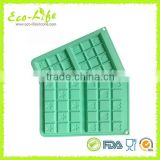 2pcs small Silicone Waffle Cookie Mold, Silicone Cake Chocolate Mold, Ice Cube Tray