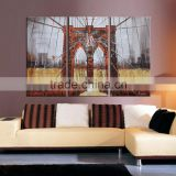 Modern bridge design canvas oil painting frame wall art