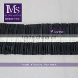 100% cotton black and white embroidery cotton lace trim embroided fabric for pleated skirt