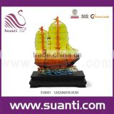 Resin miniature Chinese boat ship model