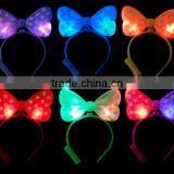 factory direct sale latest fashion Headwear with LED Bow shape light up Headband