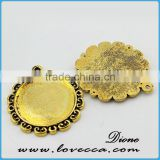 blank pendant base settings	,Alloy Jewelry accessory,Wholesale alloy metal blank pendants
