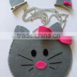 china suppliers OEM acceptable hello kitty handmade felt non woven lady hand bag sling bag for shopping