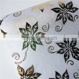 NW1313 metal print flower wrapping paper non woven fabric