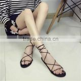Summer Rubber Leather Outdoor Beach Women Flat flip flop Slipper Sandal Shoes