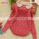 2015 children's clothing factory direct wholesale of new design knitted kids pullover sweater