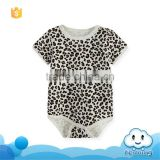 SR-296B hot selling baby boutique bangladesh clothing with leopard print cotton baby romper