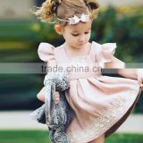 summer flutter sleeve baby girl clothes 2017 baby girl party dress children frocks designs