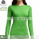 Ladies 100% Merino Wool High Quality V-Neck Thermal Sports,Gym Wear Pullover,Elastan Long Johns,Base Layer,Sweatshirt, Size Plus