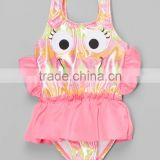 New Fashion Girl Beachwear With Pink Fish Skirted One-Piece Girl Swimsuit Girls Wear G-NP-S905-336
