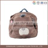 Cute ODM plush animal teddy bear backpack for kids