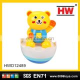 Classic happy kids toys sweet bear plastic tumbler with light & music