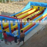 2014 Empire Inflatable Bungee Run three lanes, inflatable runway is001
