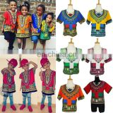 kids Children African Clothes Shirt Dashiki Print Boys Girl Dress Hippie Tribal African Kids Dashiki African Clothing wholesale