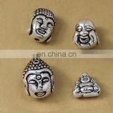 Wholesale antique silver buddha metal bead for bracelet