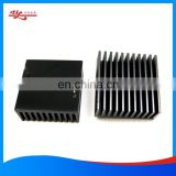 custom black anodized extruded aluminum profile heatsink