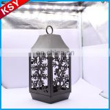 Newest Good Quality Iron Decorative Metal Nailhead Bird Cage Candle Lantern Holder