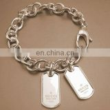 2014 fashionable customized gold blank dog tags with engraved