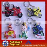 2014 Custom Promotional Small Gifts Cheap Soft PVC Souvenirs Keychains