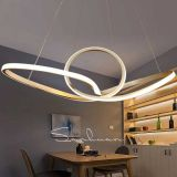 White Bending Design LED Hanging Lamp Light Fixture Chandelier