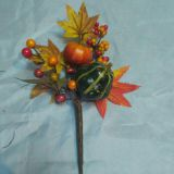 looking beautiful artificial christmas wreath with small pumkin fruit