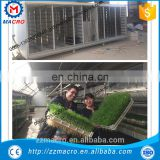green hydroponic seeds sprouting machine/animal fodder tray germination house