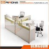 Cheap customized office furniture wooden melamine 2 person office desk workstation divider for computer