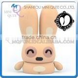 Mini Qute Mask Bear 10cm yawn Beibei Rabbit Kawaii plastic animal action figures Kids Cartoon toy car Decoration doll model