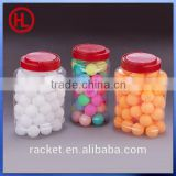 60pcs barrelled packing cheap Color custom logo ping pong ball ,table tennis ball wholesale
