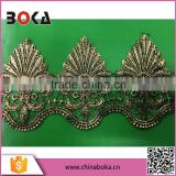 Boka 2015 gold lace trimming for veils,bridal wear and wedding dress                                                                         Quality Choice