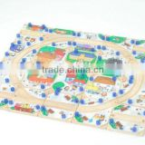 Kids wooden toy train track,railway track toy