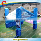 inflatable square advertising tent with digital printing for promotion China, blue inflatable cube tent