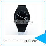 Geneva silicone japan movt quartz watch stainless steel back outdoor simple quartz watch