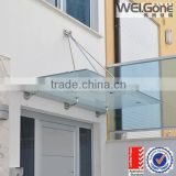 Alibaba China outdoor laminated glass entrance canopies