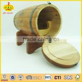 wooden wine cask and wooden barrel for decoration and celebration gift