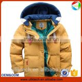 2015 warm coat yellow color fancy hot selling kids winter coat girls children's winter jackets