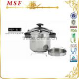 Commercial pressure cooker aluminium material non induction bottom MSF-3716