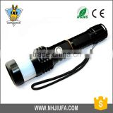 JF Hot sale 5W rechargeable aluminium led zoom bicycle flashlight,most powerful zoom led work light with lampshade