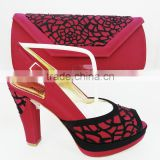 italian shoes and bag set to match women for wedding high heels shoe and wallet bag