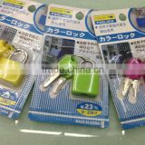 Color molded case brass padlock luggage padlock Plastic Padlock