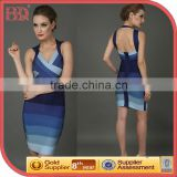 wholesale odm clothing women cheap ombre formal evening dress tight bandage tube dress low cut backless bali summer dresses
