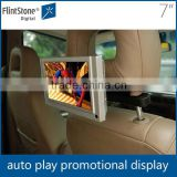 Flintstone 7 inch plastic back seat video tv for car usb media player promotional gift digital taxi advertising equipment